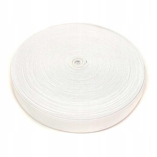 Guma gładka biała - 1 m