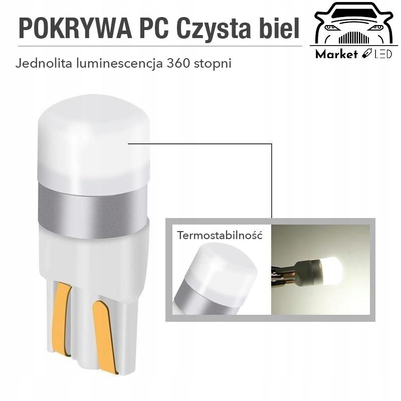 W5W Biała żarówka LED T10 W3W 12V Producent inny