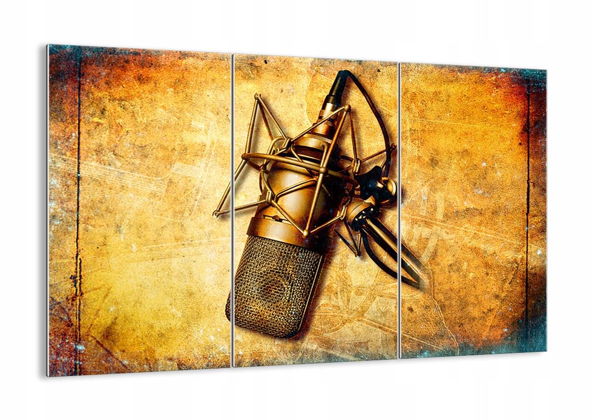 Maľovanie na sklo Retro Mikrofón GCE105x70-0525