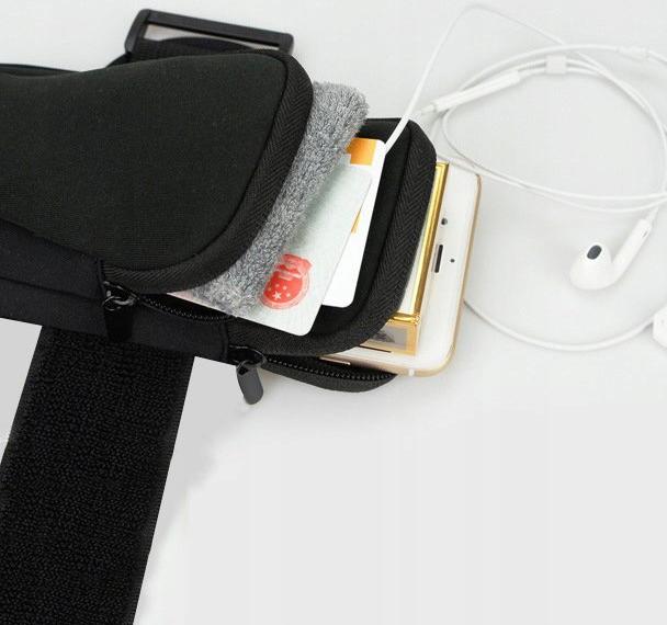 ETUI NA RAMIĘ OPASKA DO BIEGANIA NA TELEFON Materiał tworzywo sztuczne