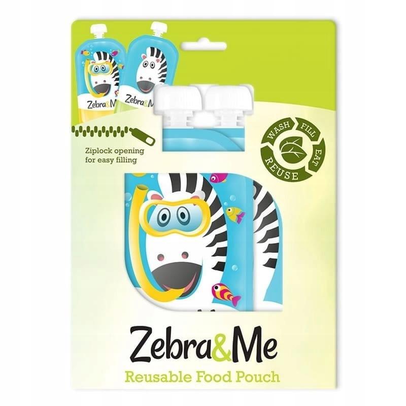 Saszetki tubki wielorazowe na pokarm Zebra&Me Marka Zebra & Me