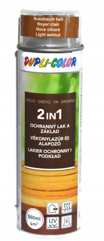 MOTIP LAKIEROBEJCA ORZECH JASNY SPRAY 500ML 2 w 1