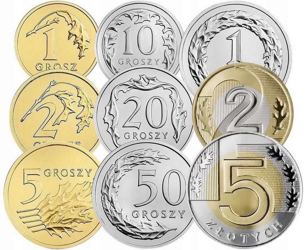 Komplet monet obiegowych 2016 r. UNC 9 sztuk