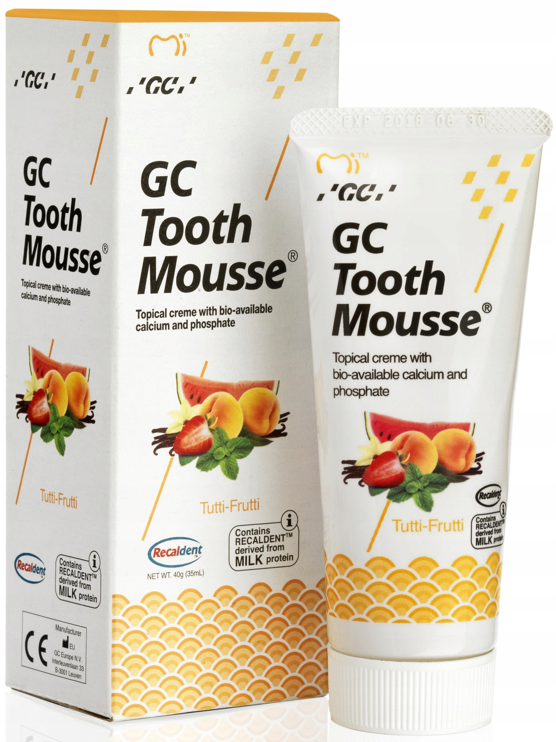 GC PASTA TOOTH MOUSSE 35ml All-Fruits FV