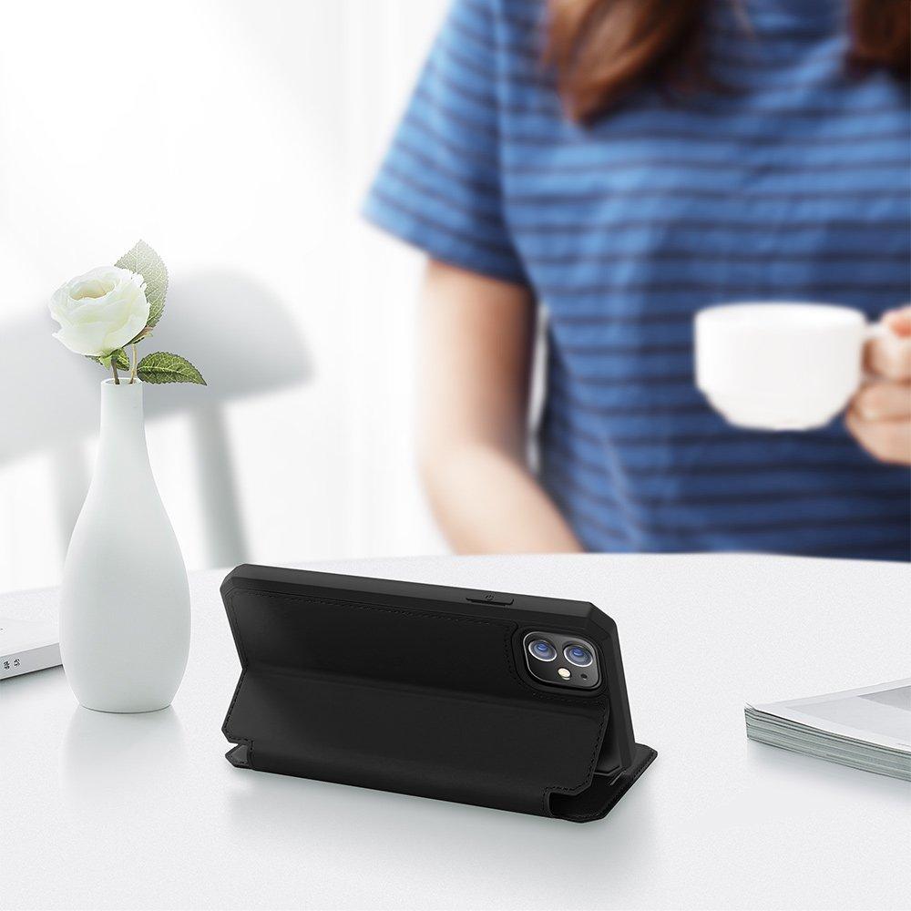Etui Skin X + szkło do iPhone 12 / 12 Pro czarny Rozszerzenie podstawka