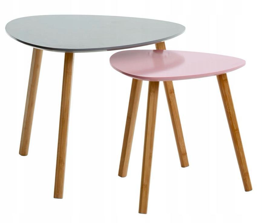 Набор журнальных столиков серый скандинавский современный лофт