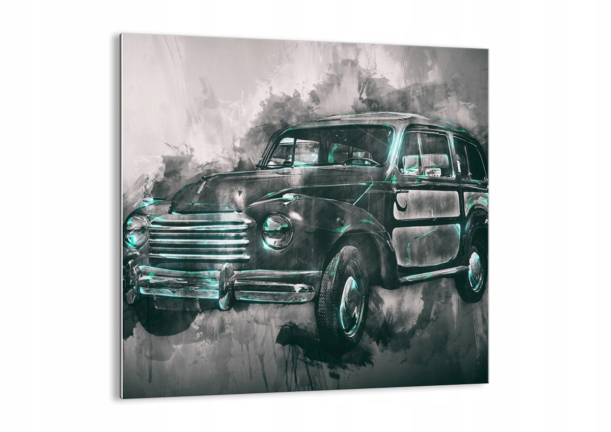 Vzor sklo retro auto GAC50x50-3834