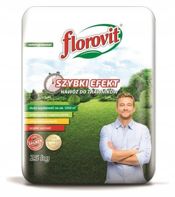 FLOROVIT Nawóz szybki Efekt do trawników 25kg