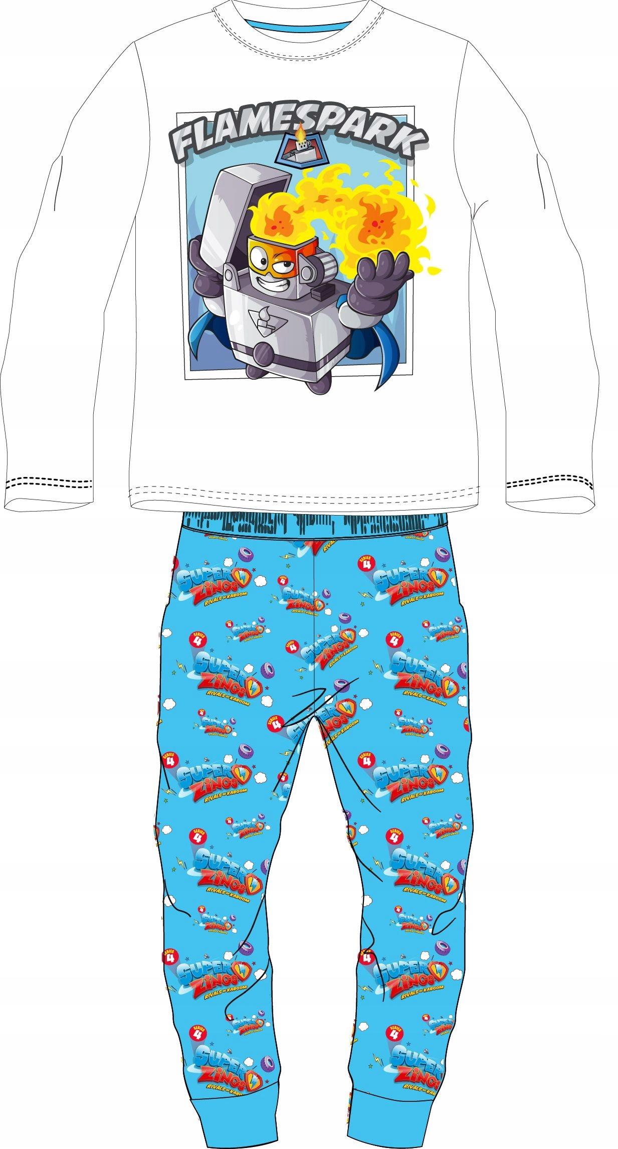 LICENCIA na pyžamo DRES SUPER ZINGS FLAMESPARK 122