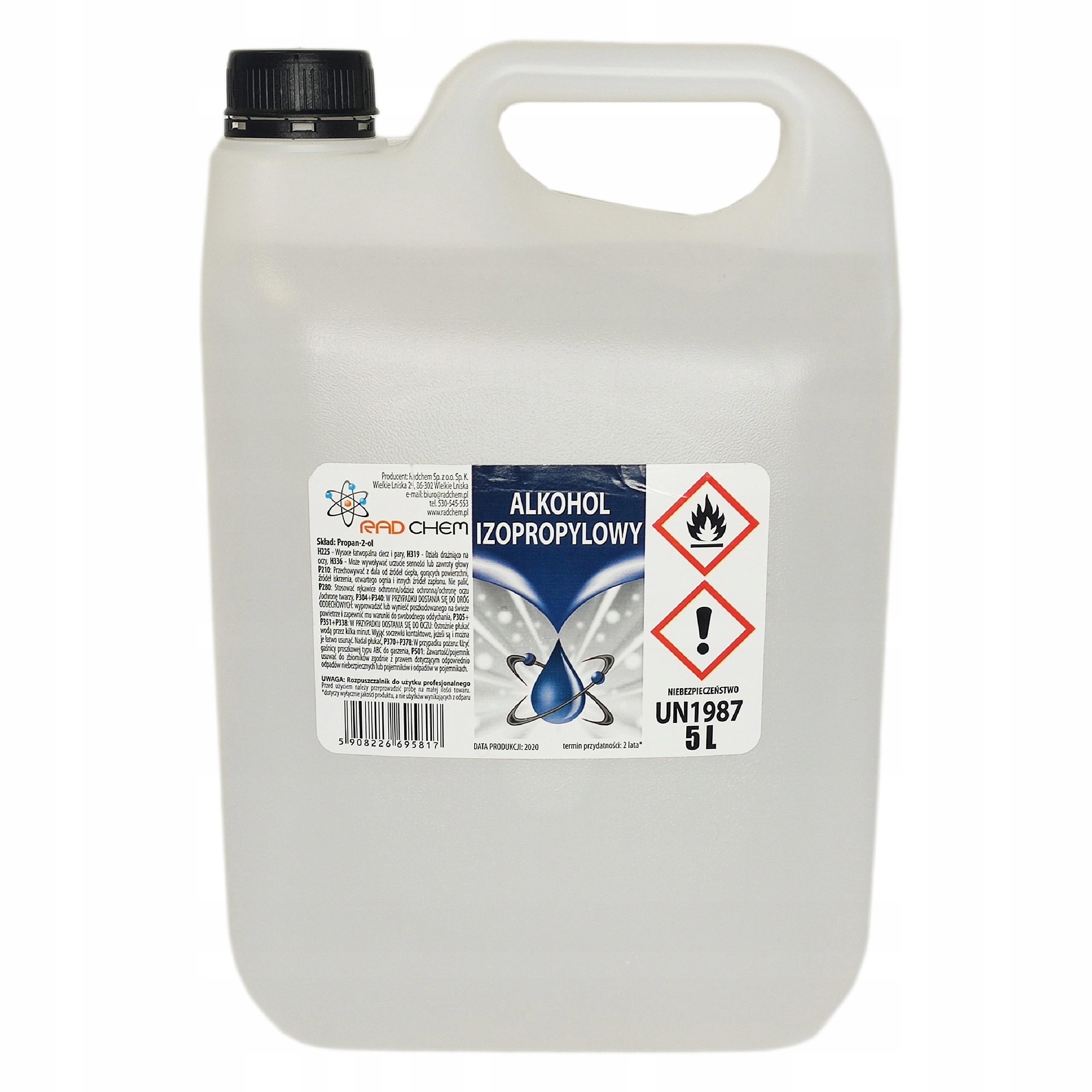 IPA Czysty Alkohol Izopropylowy IZOPROPANOL 99% 5L