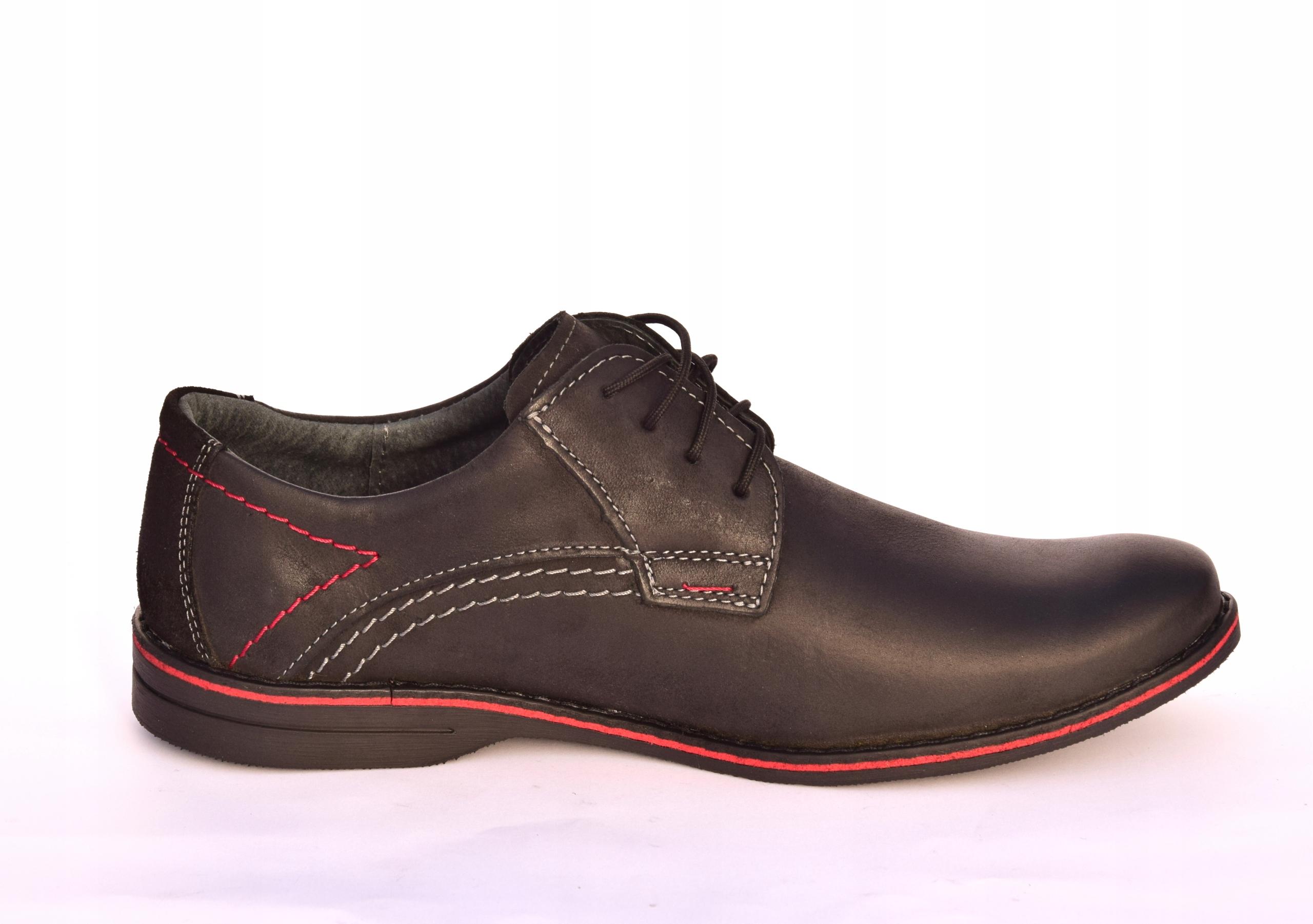 Buty męskie casual obuwie skórzane polskie 242 Marka inna