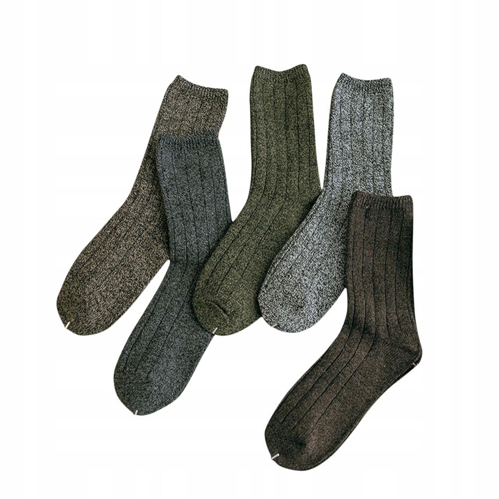 5 pánske ponožky Fall Winter Cotton Retro
