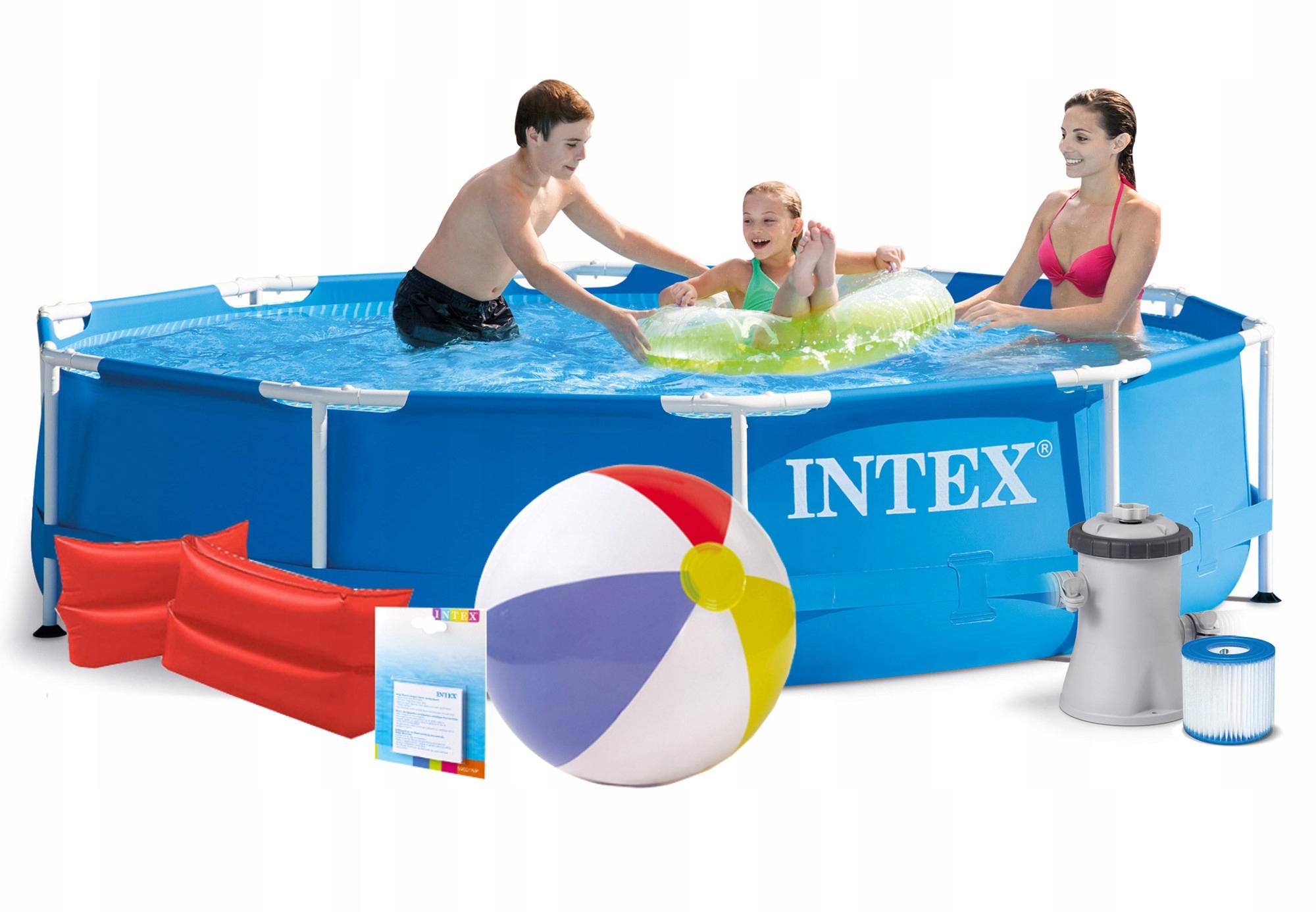 INTEX 28202 9w1 BASEN STELAŻOWY 305x76cm POMPA