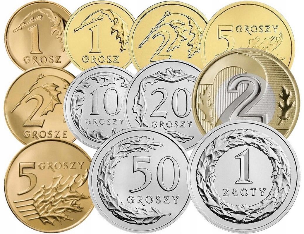 Komplet monet obiegowych 2014 r. UNC 11 sztuk