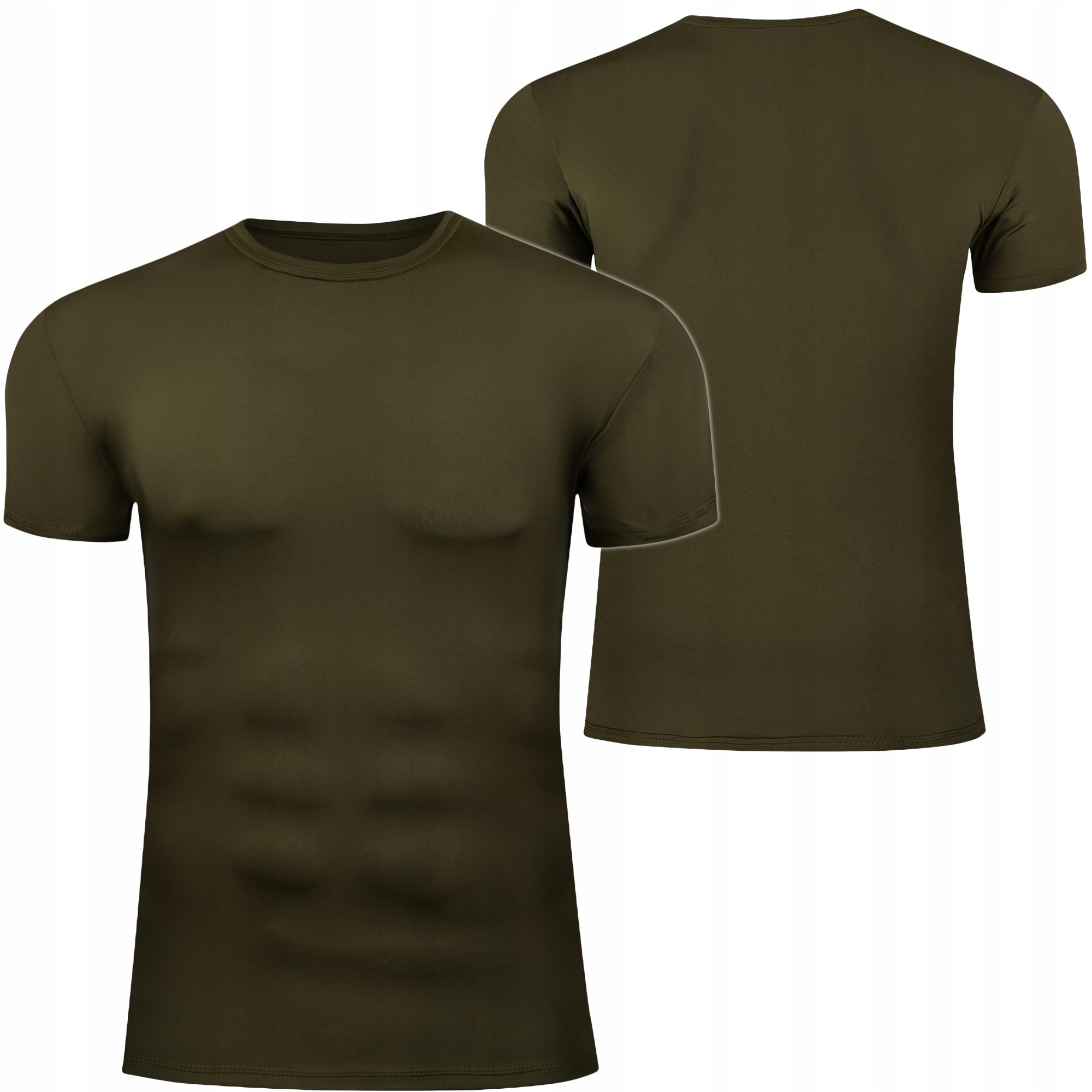 18 Termoaktívne tričko Khaki Olivová armáda L