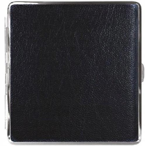 Papierośnica Eko Skóra Metal ADAMO 910063 Black