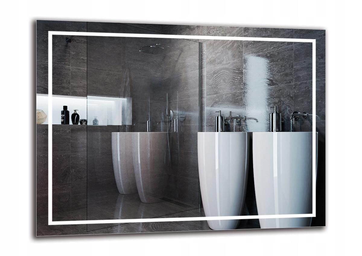 LED osvetlené zrkadlo 80x60 do kúpeľne M1ZP-48