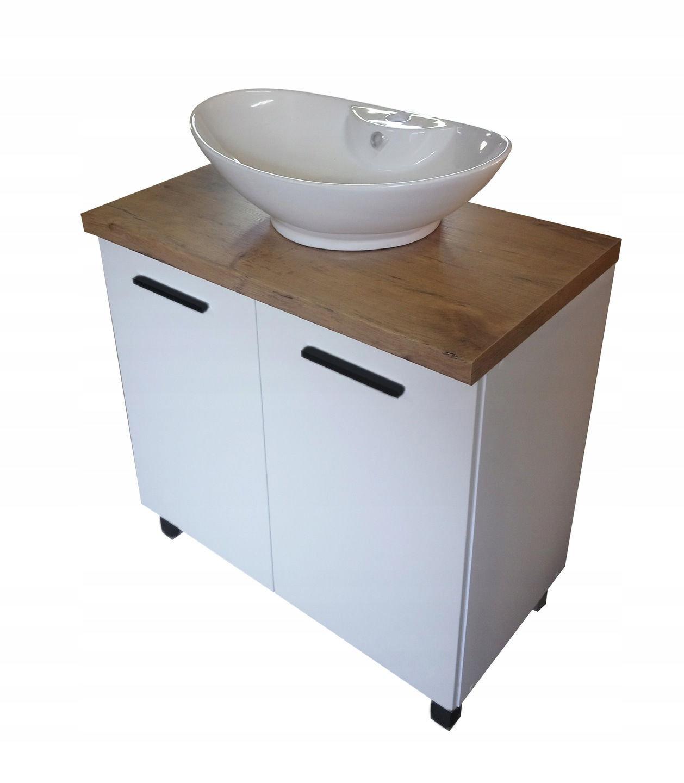 Szafka łazienkowa pod umywalkę 80 połysk Wykończenie połysk