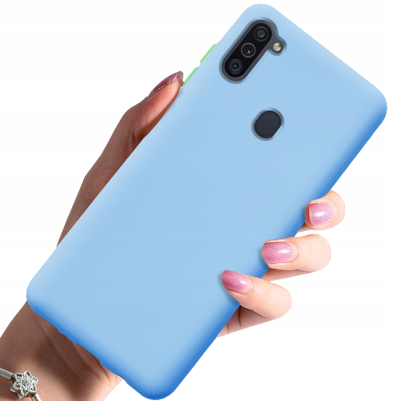 Etui do Samsung Galaxy M11 Case Silikon + Szkło 9H Dedykowany model Samsung Galaxy M11