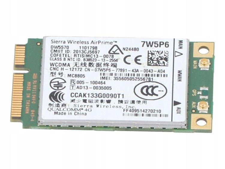 Купить Модем Dell DW5570 7W5P6 4G LTE E7240 M4800 WWAN на Otpravka - цены и фото - доставка из Польши и стран Европы в Украину.