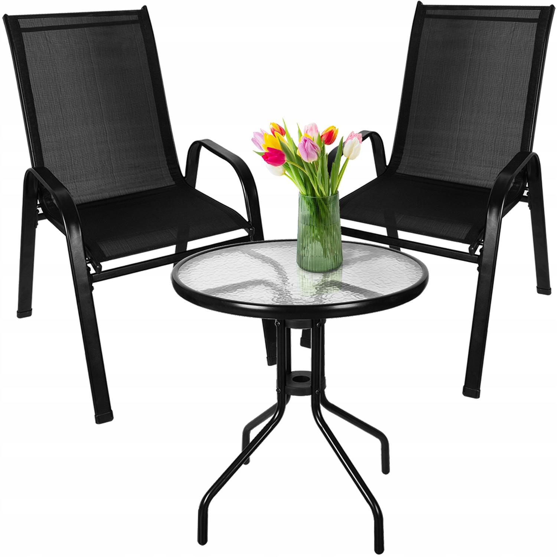 Meble na Balkon Ogród Taras Komplet Stół 2 Krzesła Liczba osób 2