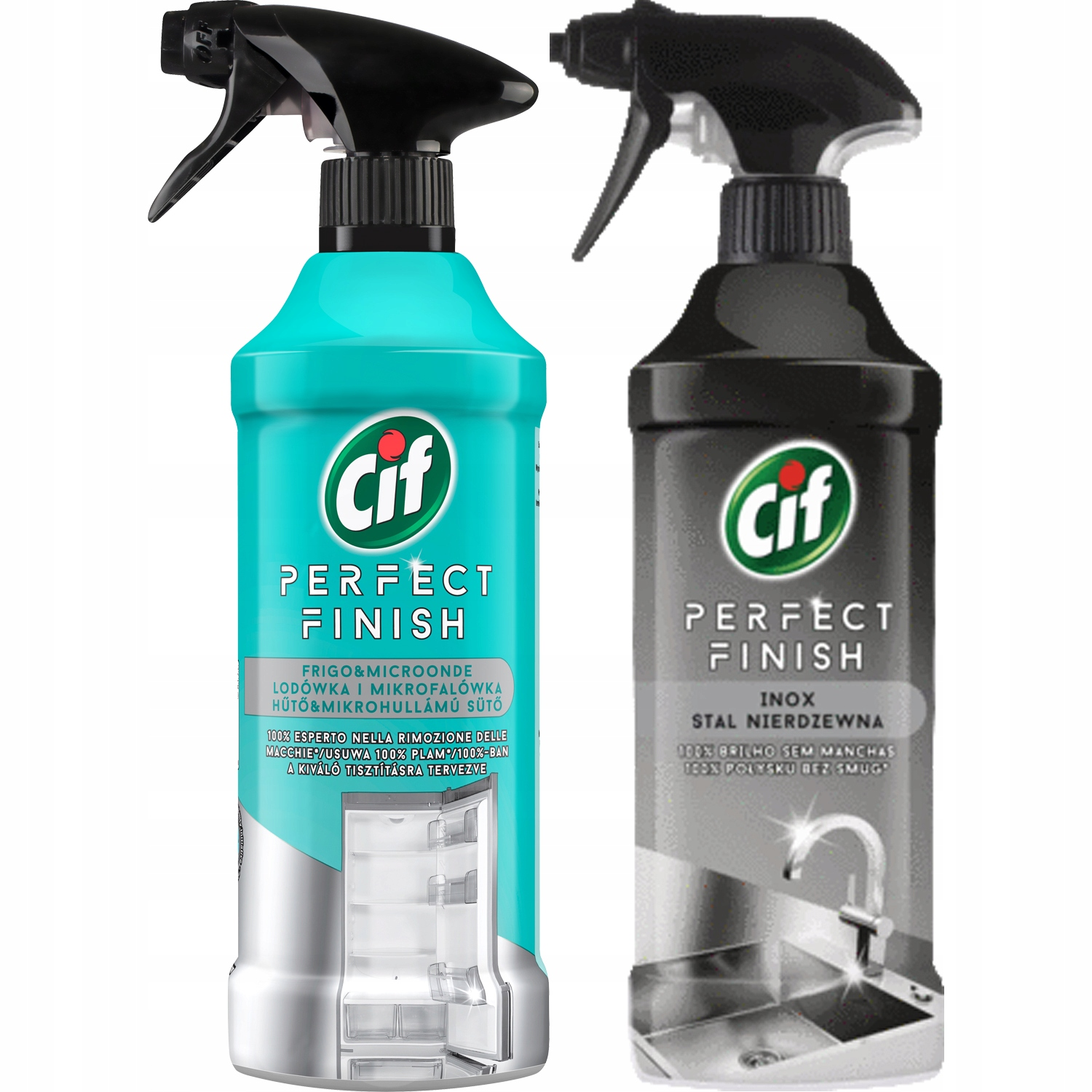 Cif Perfect Finish Spray Холодильник Сталь 2x435ml