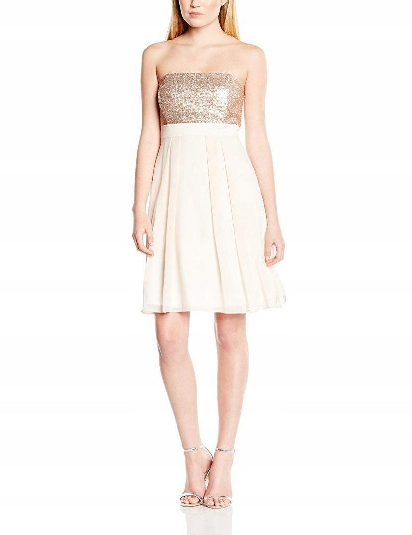 Swing Mini Zdobiona Sukienka Odkrytę Ramiona 42 XL