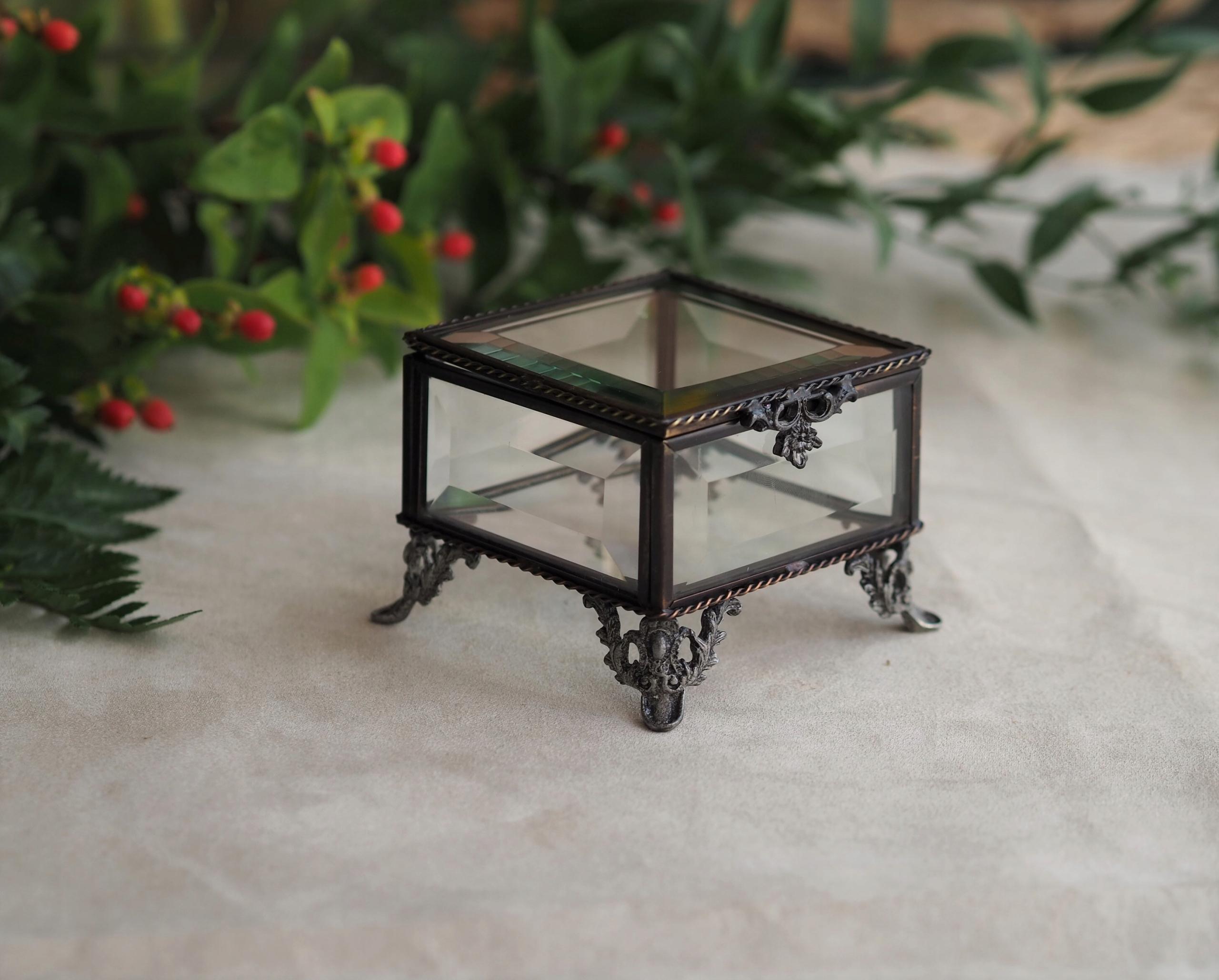 Sklenený box RETRO sklenený box - antracit