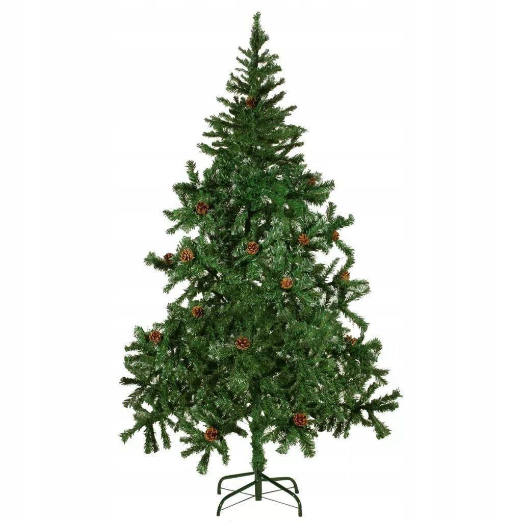 Umelý vianočný stromček so šiškami 180 cm