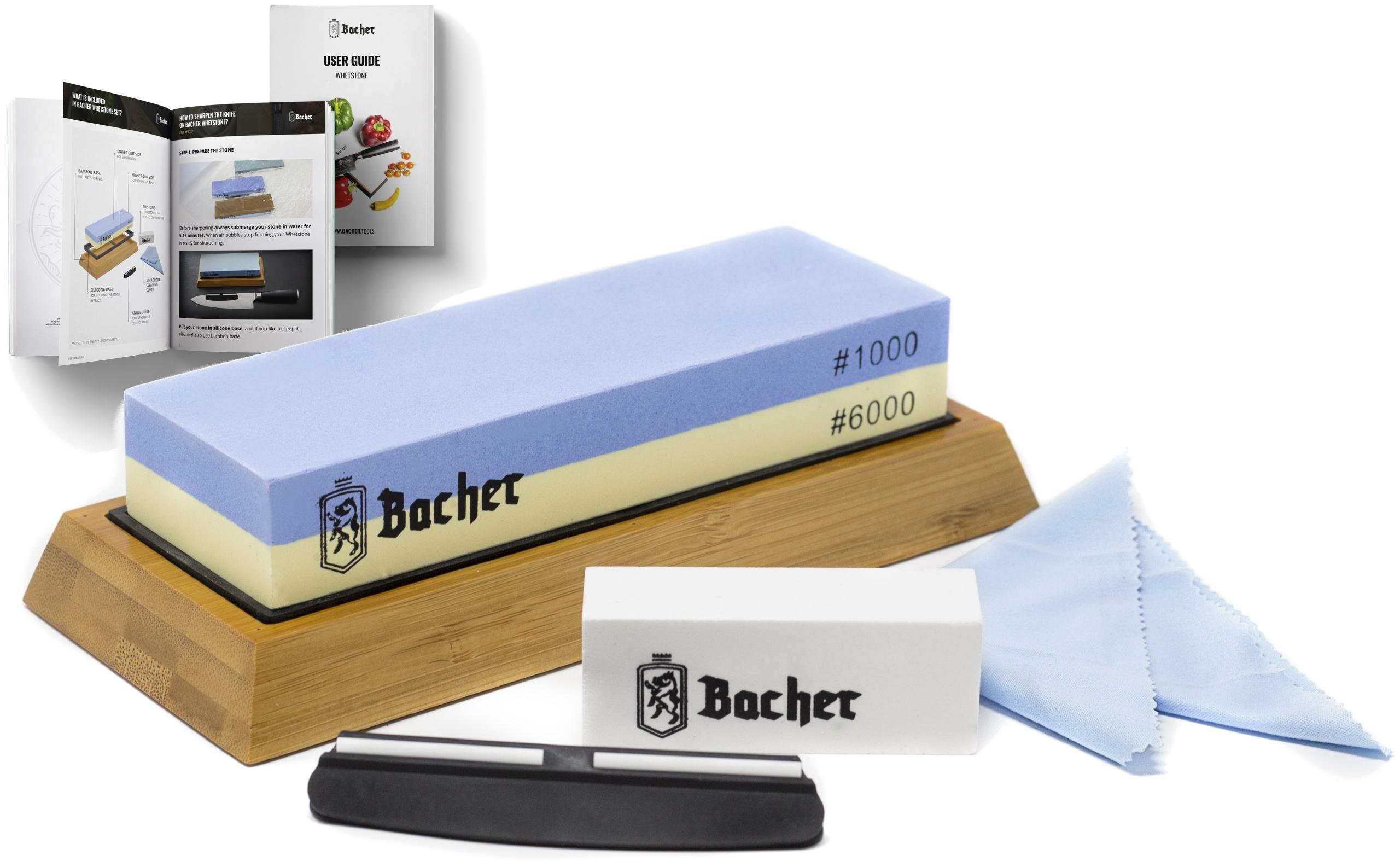 Stroj BACHER osełka kameň 1000/6000 SET+ebook