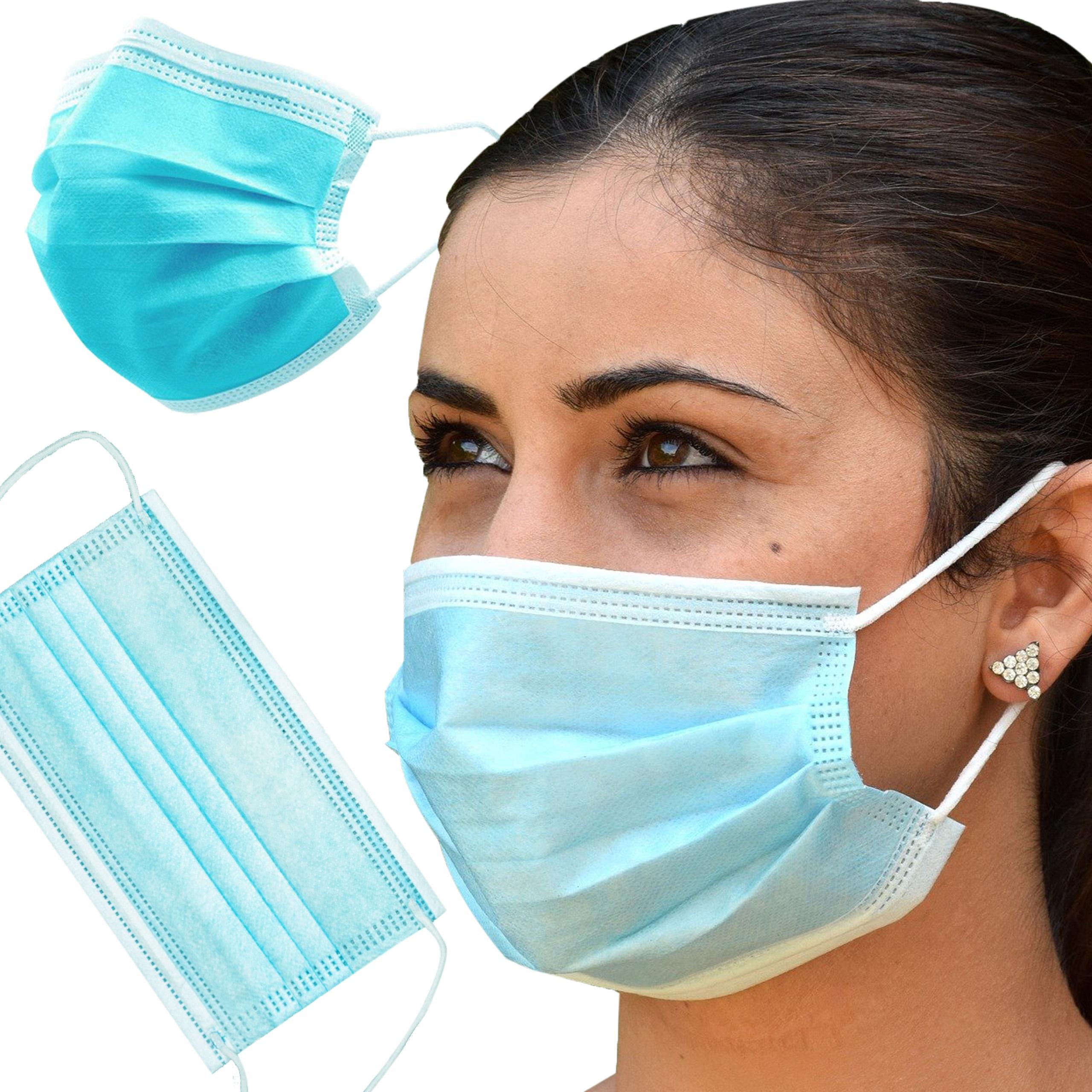 3-х слойная защитная маска для лица х 100 шт.