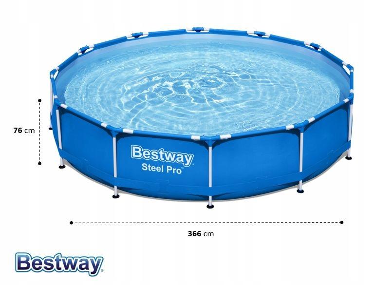 Záhradný bazén Bestway Frame 366x76 56706 6v1 dĺžka 366 cm