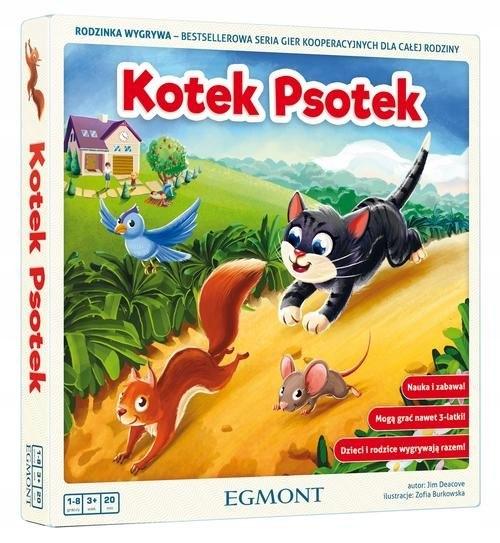 KOTEK PSOTEK Gra planszowa rodzinna dla dzieci PL