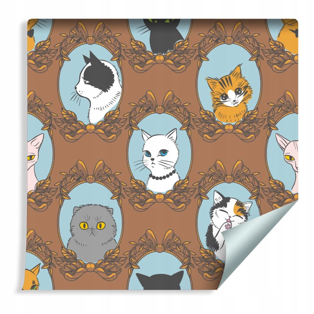 Farebné tapety pre mačky zvieratká do detskej izby