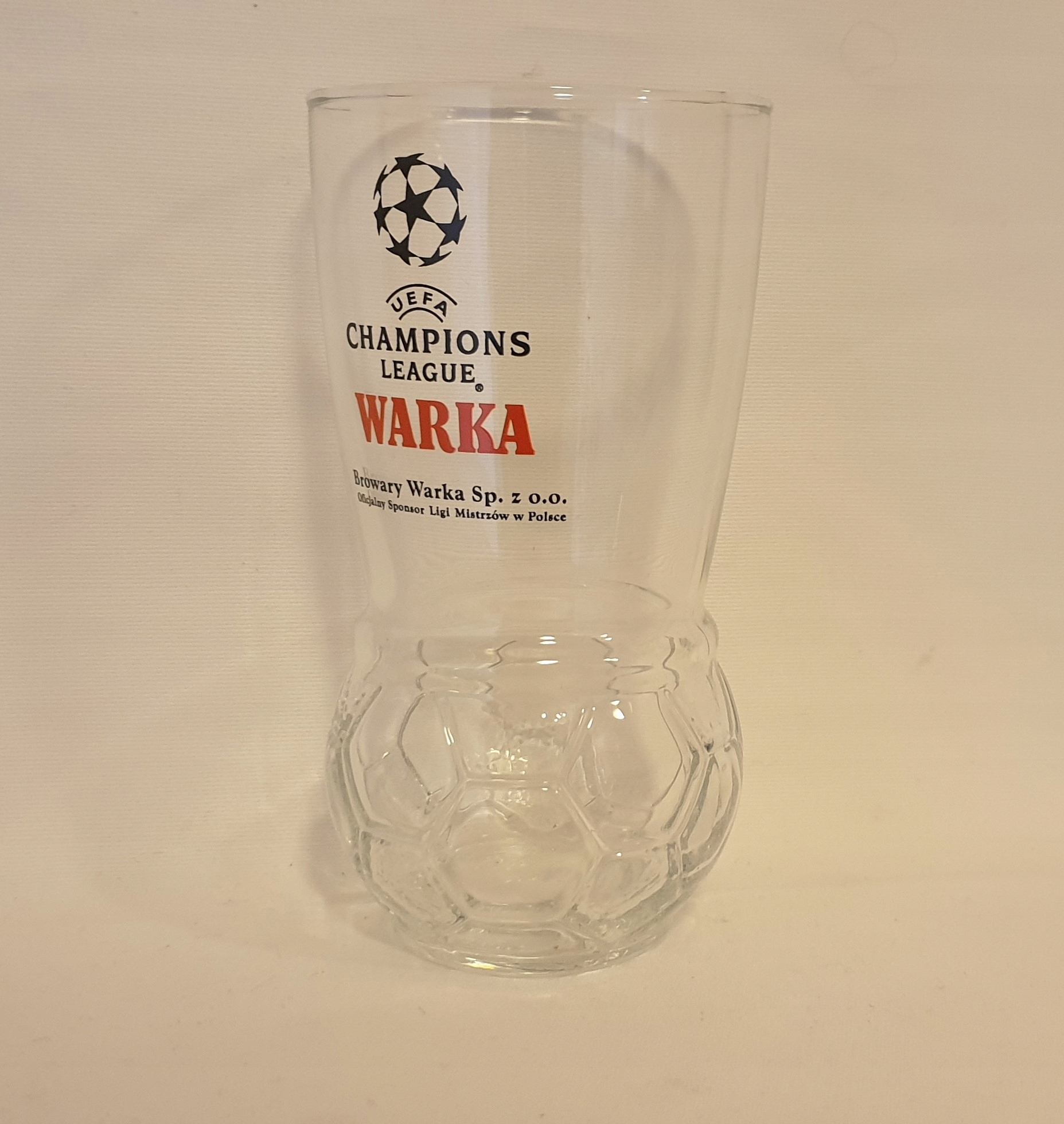 Warka szklanka piłkarska UEFA 0,3 litra