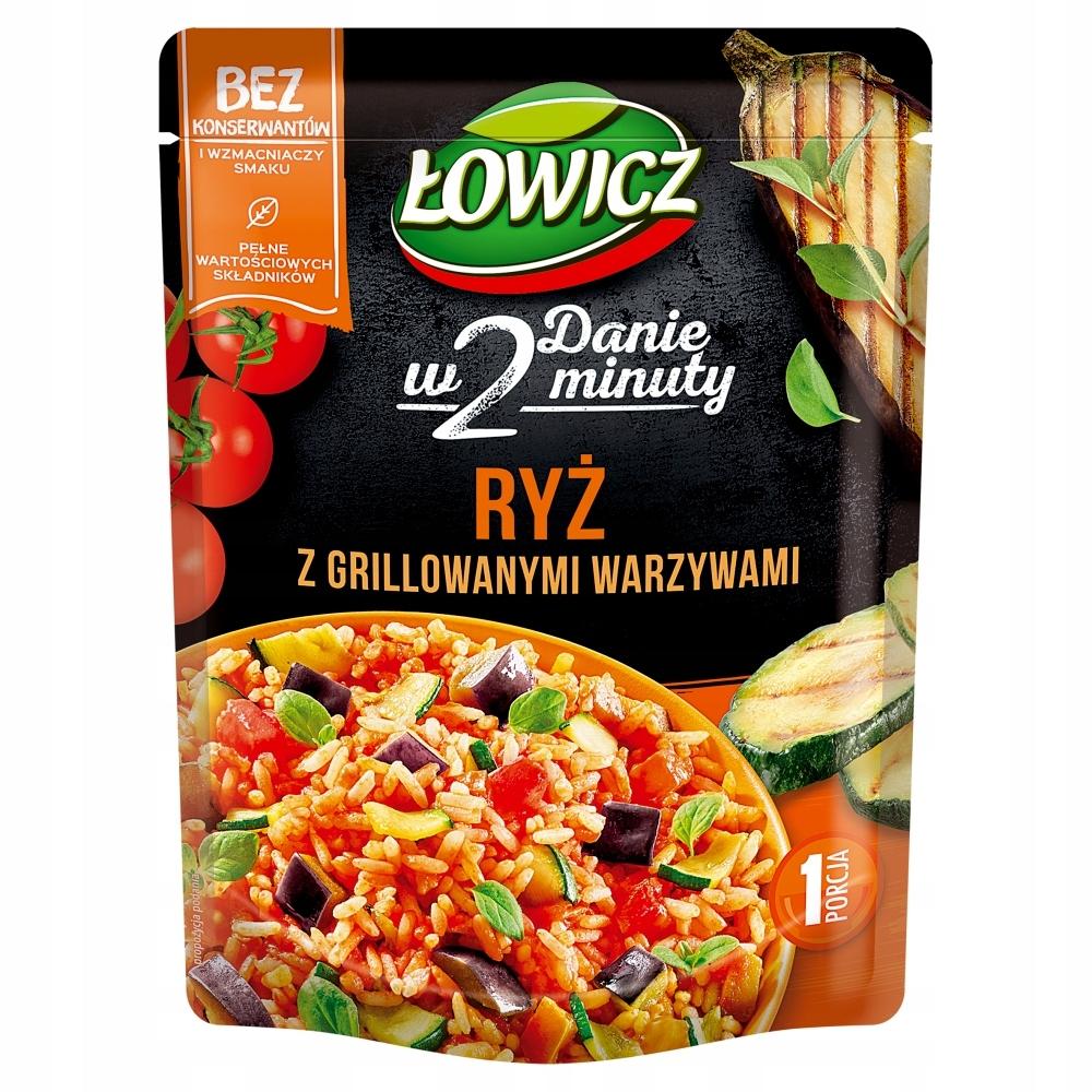 Łowicz Ryż z grillowanymi warzywami 250g