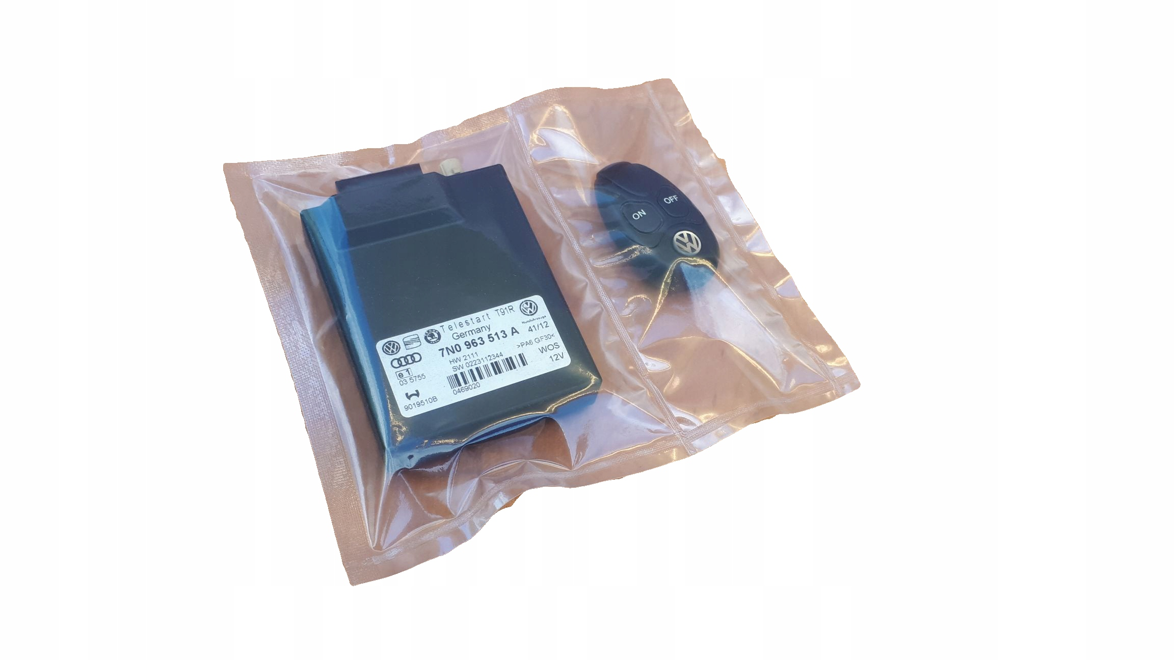 комплект telestart t91r 7n0963513b + пульт vw skoda