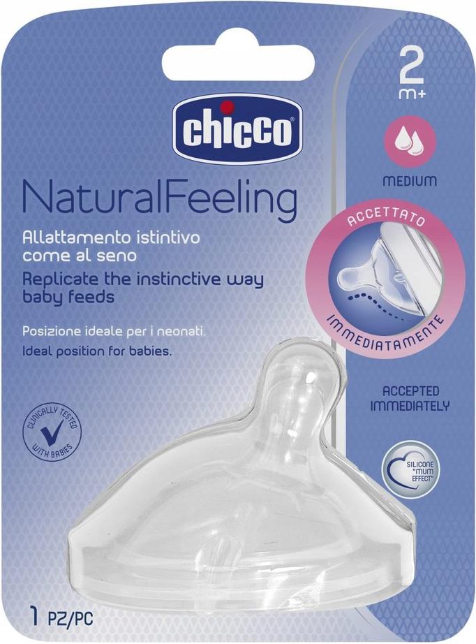 CHICCO Smoczek do butelki NaturalFeeling ŚREDNI