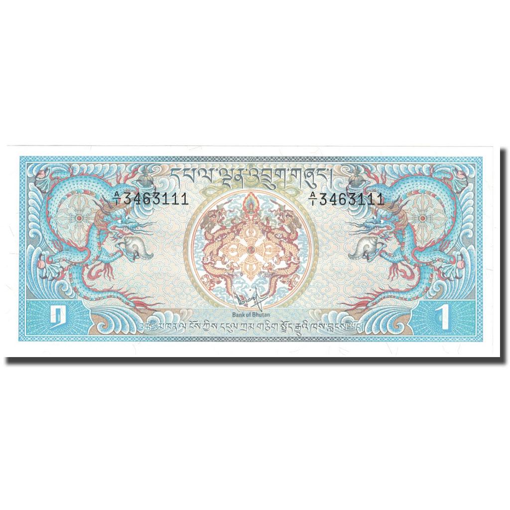 Banknot, Bhutan, 1 Ngultrum, Undated (1974), KM: 1,