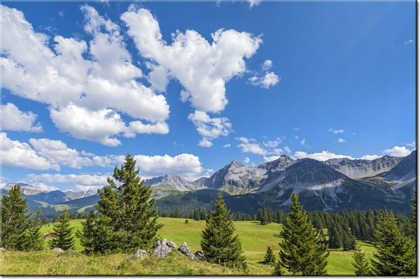 120cm 80cm obraz ścienny Widok Alpy Tambako The Ja