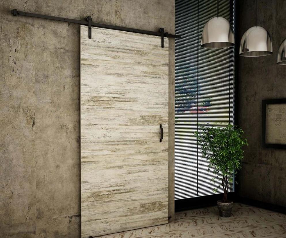 Nástenné posuvné dvere Bielená borovica Retro RT90