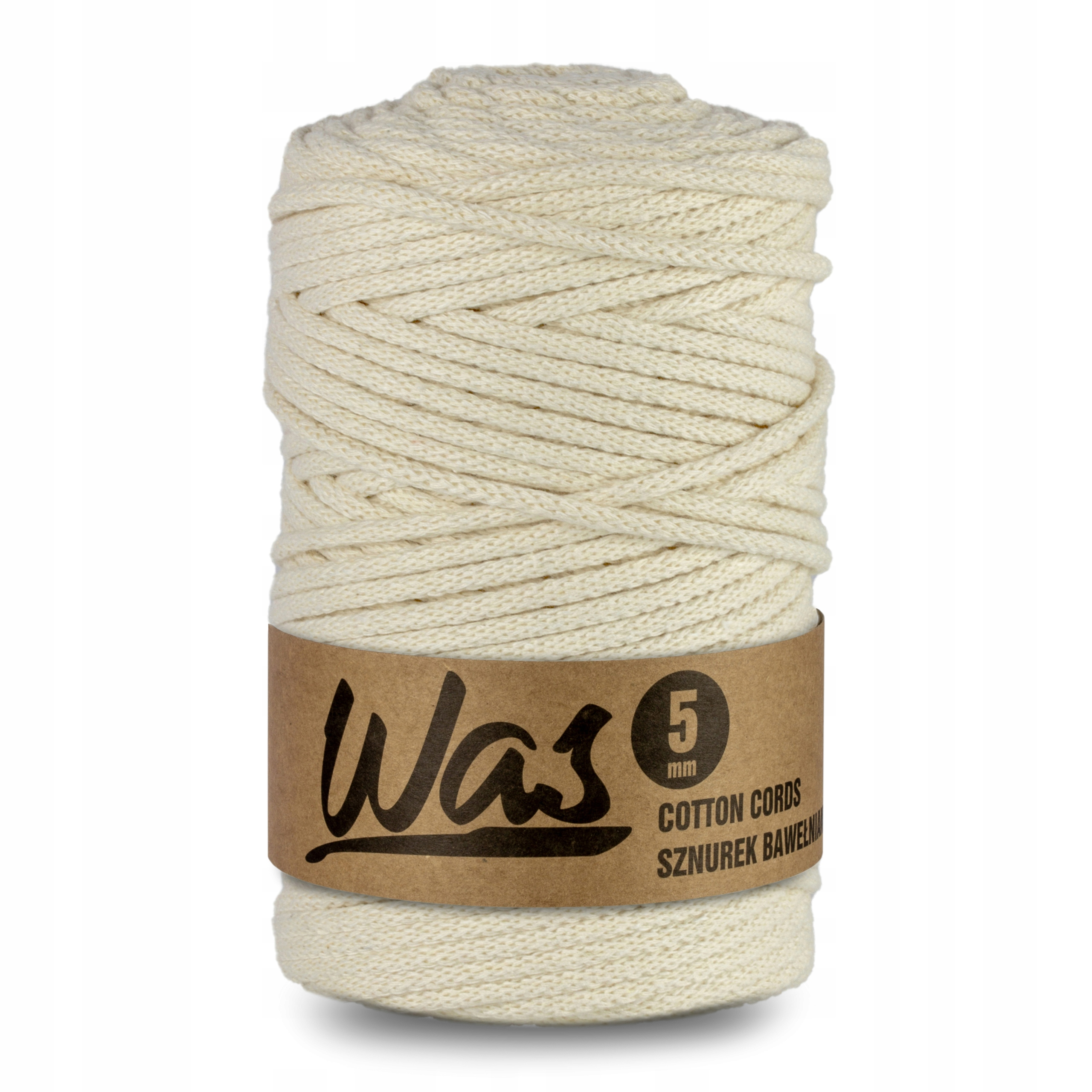 Item Cotton cord 5mm, 100m, ivory