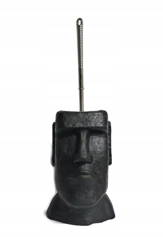 Покрытие из камня моаи. Ершик для унитаза.