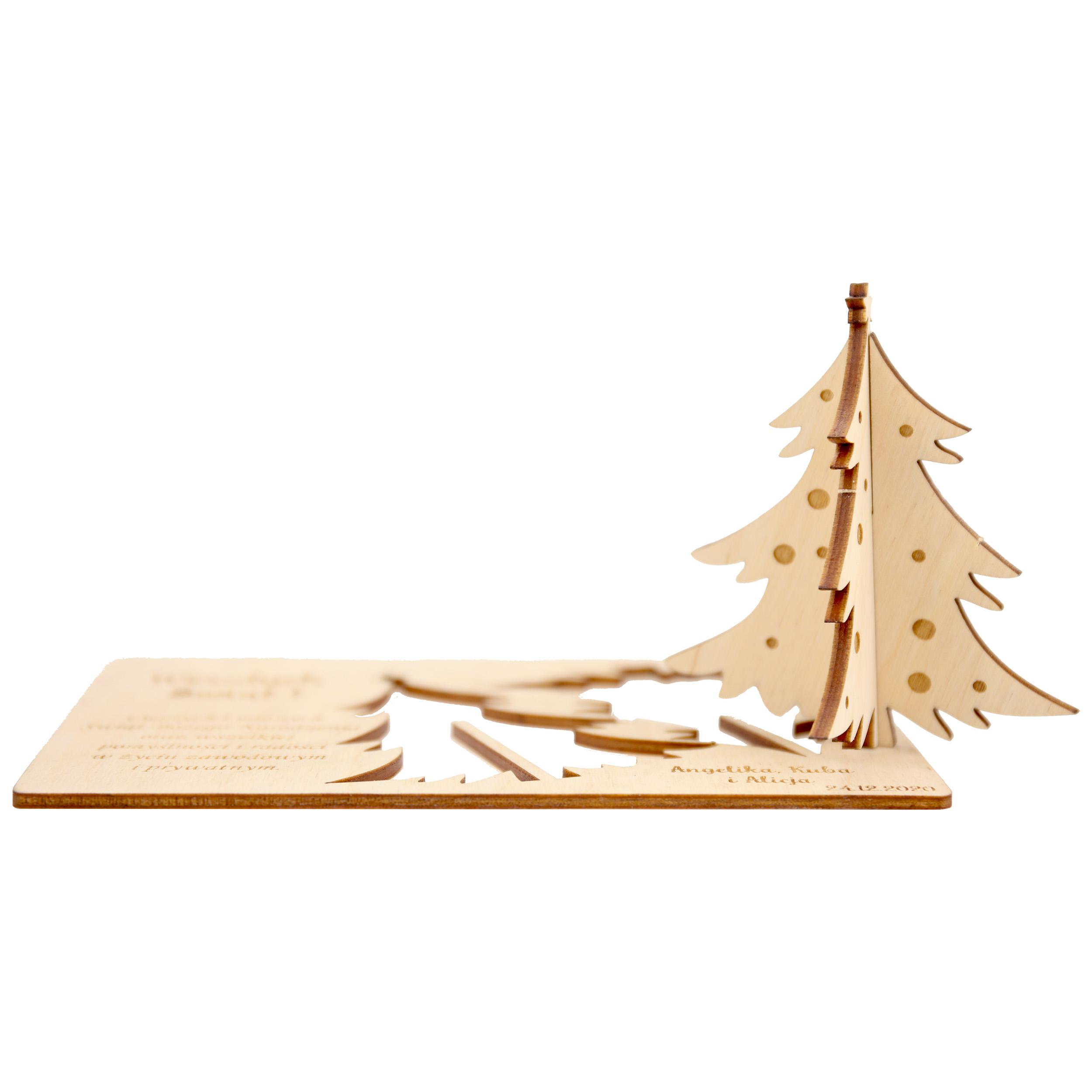 Vianočné karty Spoločnosť Logo Business Wood 2