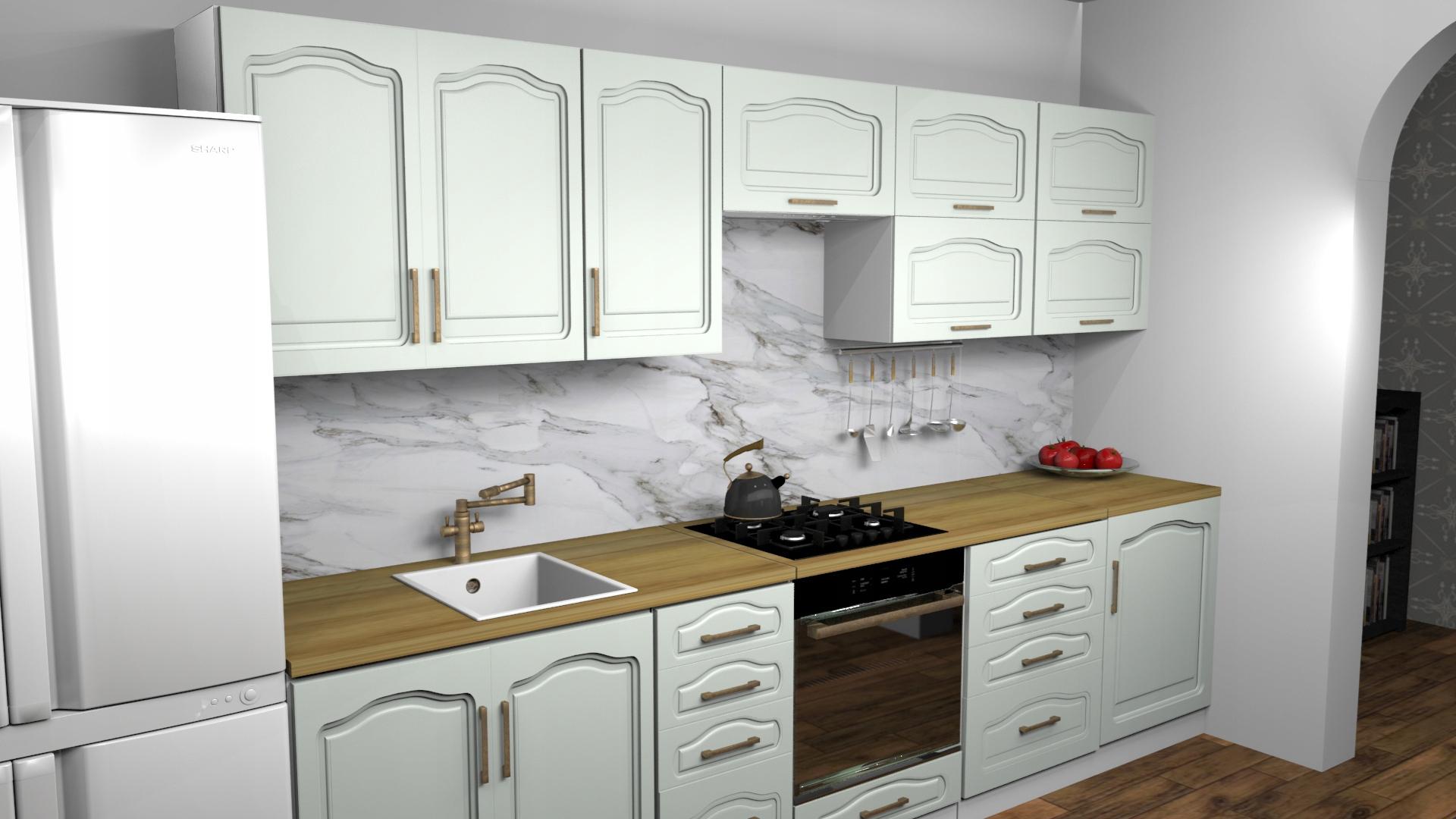 Kuchyňa Retro Nostalgia - doska na nábytok