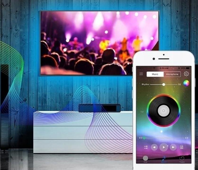 VANNTETT TAPE RGB5050 5m IOS ANDROID Bluetooth 6 W strøm