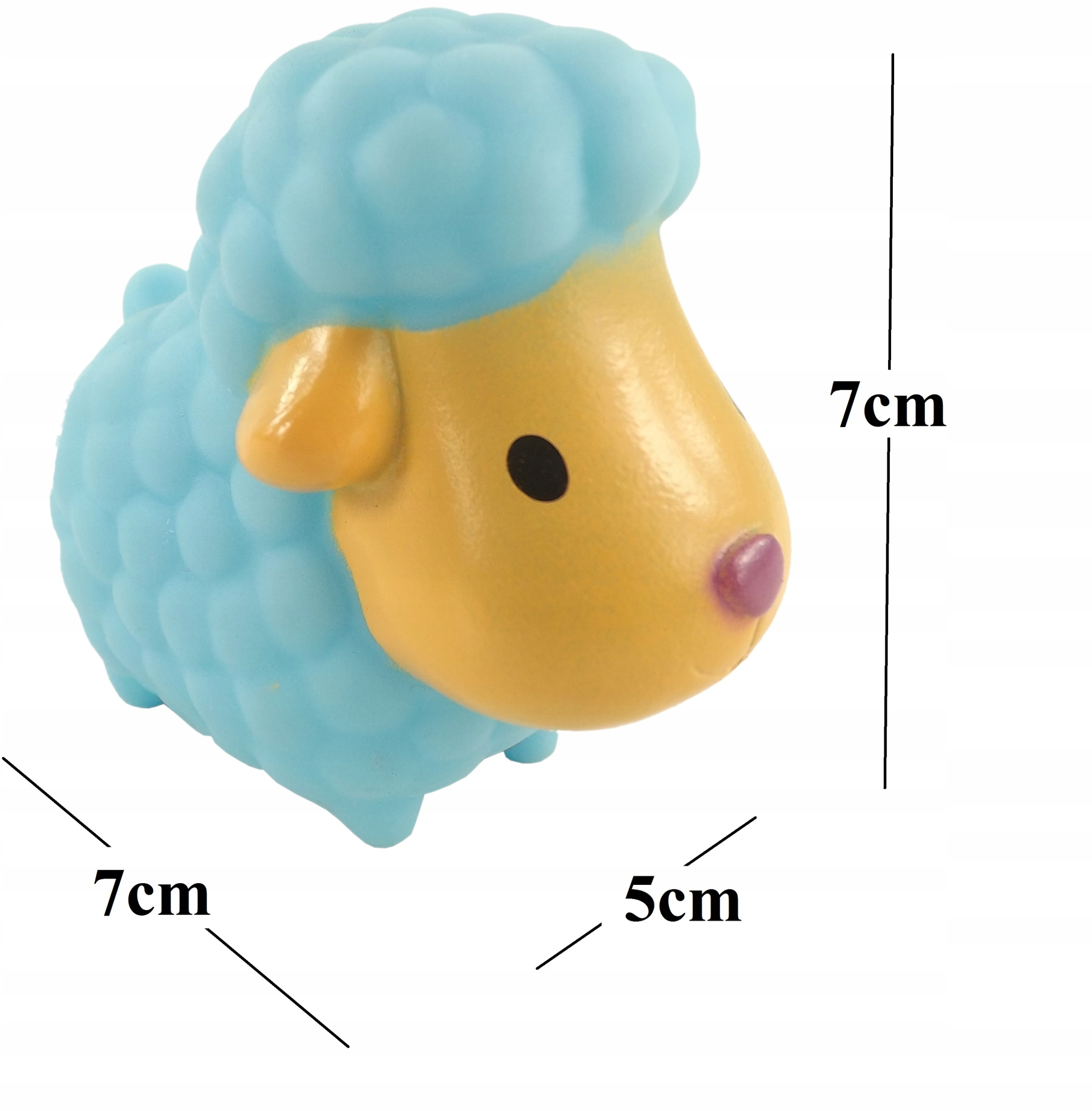 Gumowe zabawki zabawka do kąpieli FARMA 0012 Wysokość produktu 7 cm