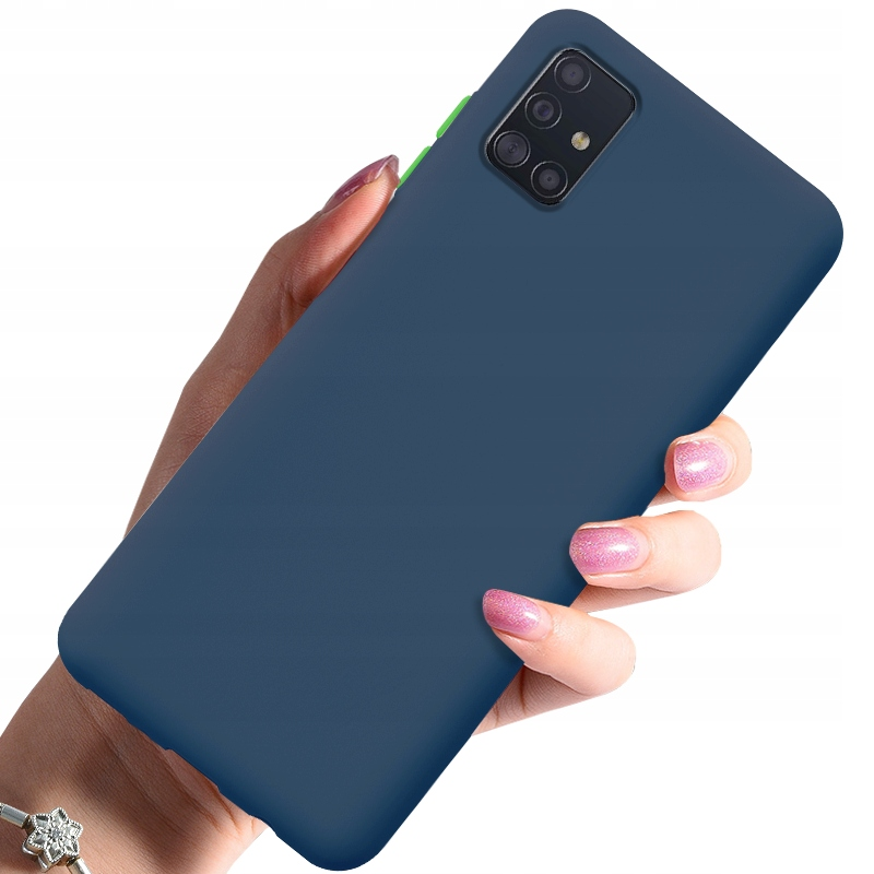 Etui do Samsung Galaxy A71 Case Silikon + Szkło 9H Dedykowany model Samsung Galaxy A71