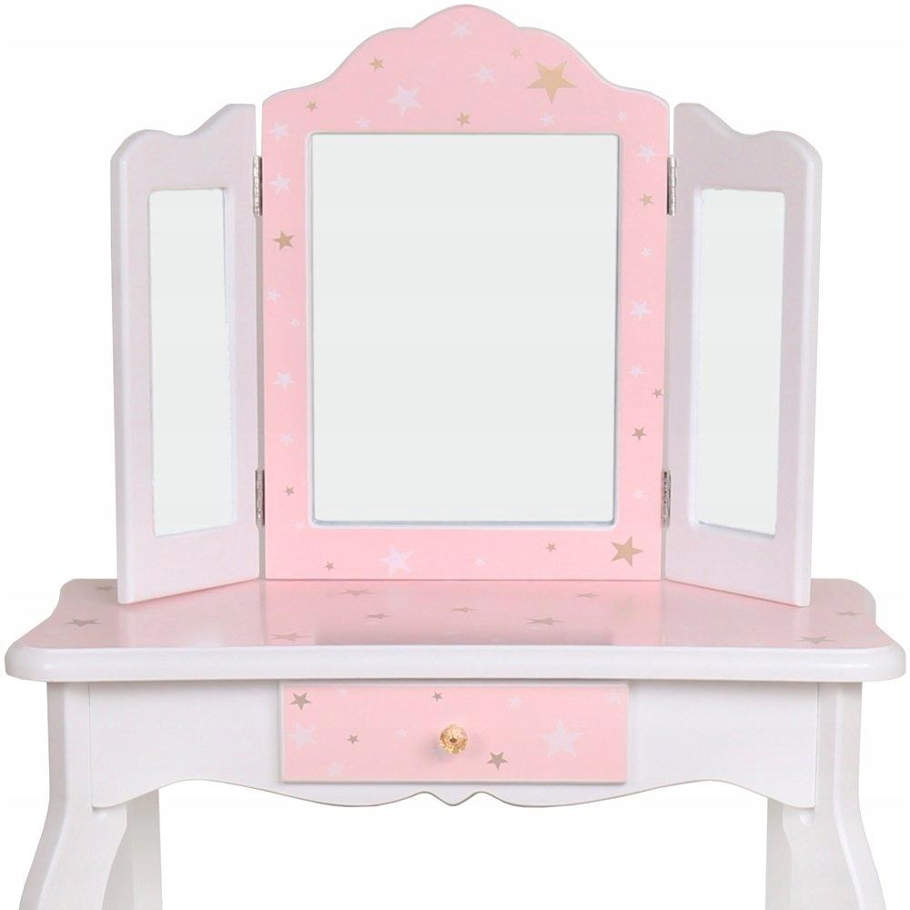 Duża drewniana toaletka dla dzieci akcesoria lustr Kod producenta 43556789867