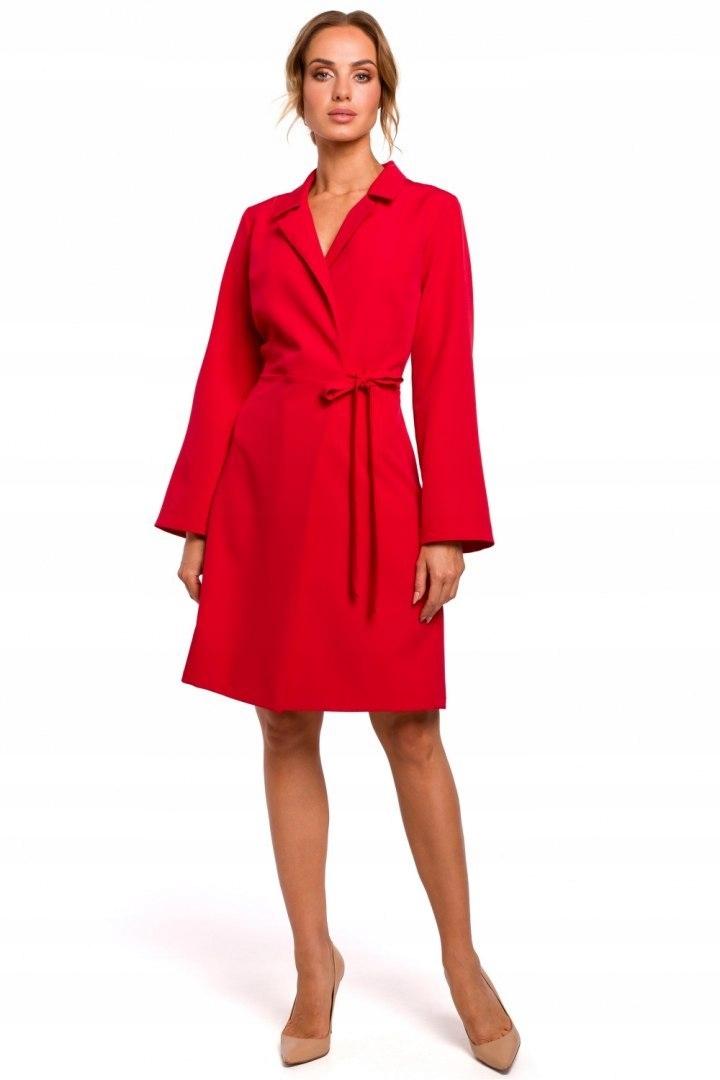 MOE462 Sukienka żakietowa Czerwona 42 XL